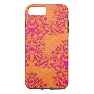 Tangerine Tango Floral Pink and Orange iPhone 7 ca iPhone 7 Plus Case