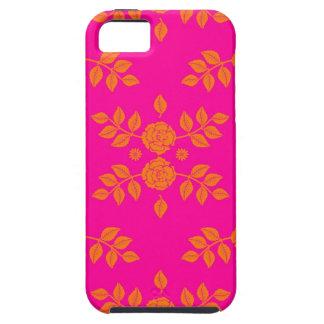 Tangerine Tango Rose Pattern iPhone 5 Case