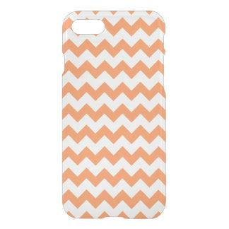 Tangerine White Chevron Pattern iPhone 7 Case