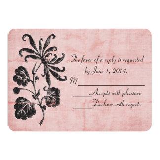 Tangled Pink RSVP Invites