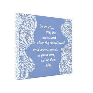 Tangled Ways (Light Blue) Canvas Print