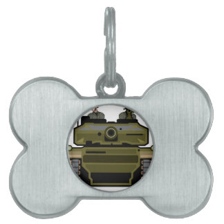 Tank Front Pet Name Tag
