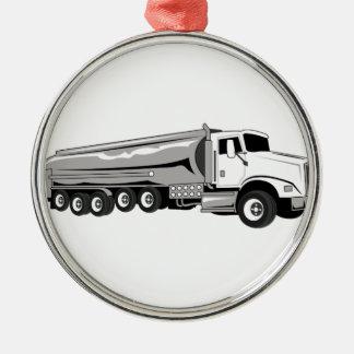 Tanker Truck Christmas Ornament