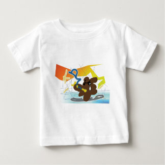 TANUKI fights with daemon in Computer! Baby T-Shirt