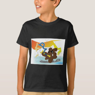 TANUKI fights with daemon in Computer! T-Shirt