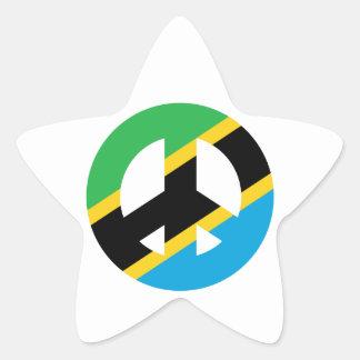 Tanzanian Peace Symbol Star Sticker