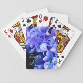 Tanzanite  Hydrangeas Playing Cards