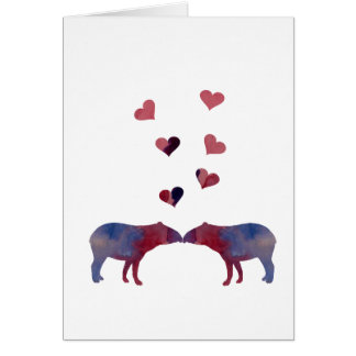 Tapir couple card