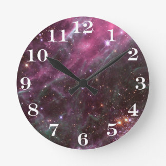 Tarantula Nebula in plum NASA Round Clock