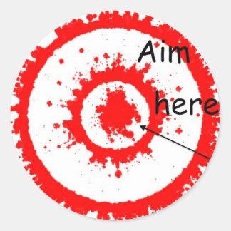 target aim classic round sticker