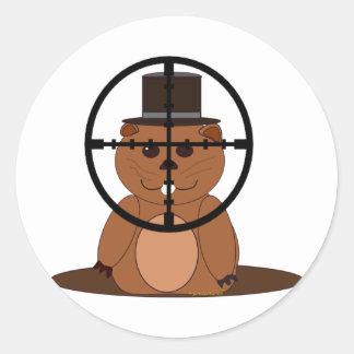 Target: groundhog classic round sticker