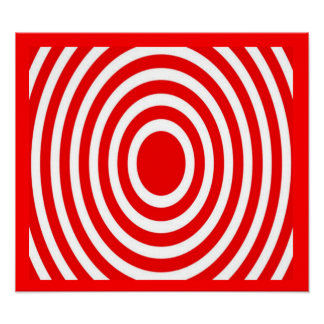 Target Range Red Art Deco Canvas Posters