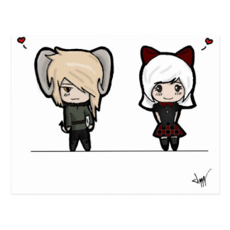 Tarin and Ishi chibis Post Cards