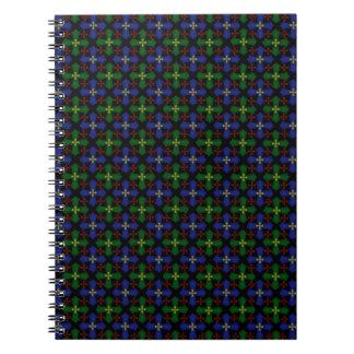 Tartan Celtic Crosses Spiral Note Book