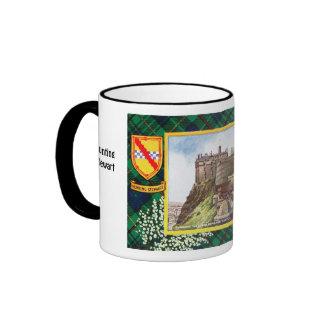 Tartan Mug, Clan  Hunting Stewart Ringer Mug
