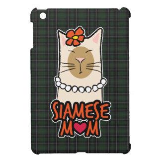 Tartan Siamese Cat Mum iPad Mini Cover