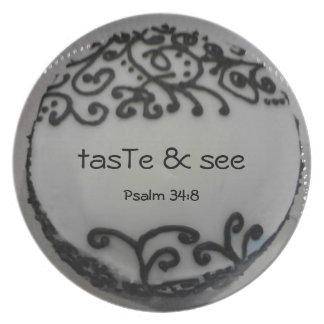 tasTe & see - cake plate