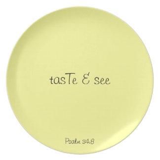 tasTe & see - yellow plate