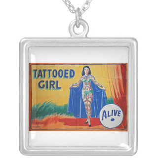 Tatooed Girl Circus Banner Necklace