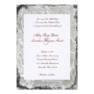 Tattered Paris Eiffel Tower Wedding Invitation