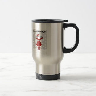 Tattle-Tell-Me-All's Happy Holidays! Stainless Steel Travel Mug