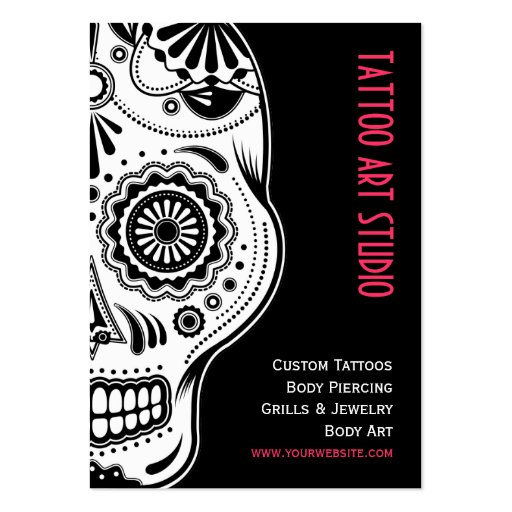 Tattoo art studio business card zazzle for Business card size tattoos