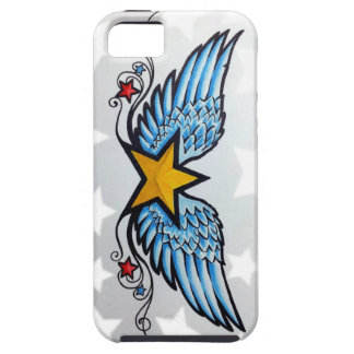 tattoo design stars and wings iPhone 5 covers