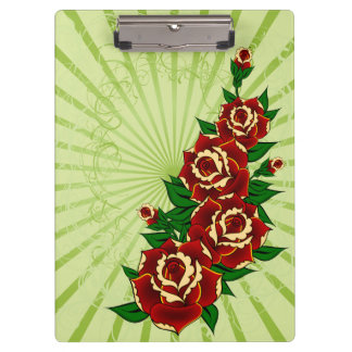 Tattoo Roses Clipboards