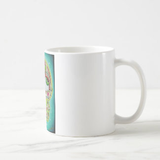 Tattooed skull basic white mug