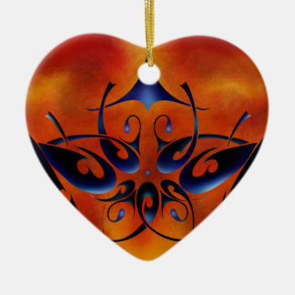 Tattoomissia V1 - firebird Ceramic Heart Decoration