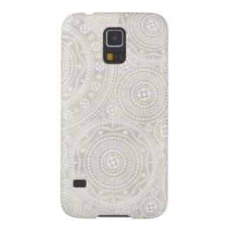 Taupe Ivory Lace Doily Neutral Mandala Print Cases For Galaxy S5