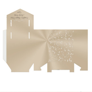 Taupe Wedding Favor Boxes PERSONALIZED Favour Box