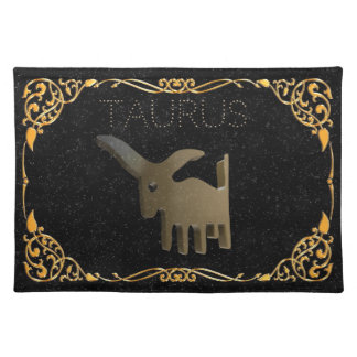 Taurus golden sign placemat