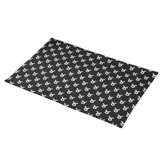 Taurus Pattern Black and White Placemat