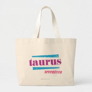 Taurus Purple Large Tote Bag