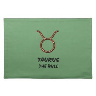 Taurus the bull placemat