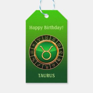 Taurus - The Bull Zodiac Sign Gift Tags
