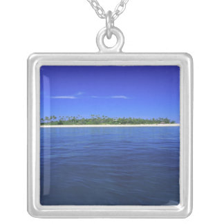 Tavarua Island Fiji Silver Plated Necklace
