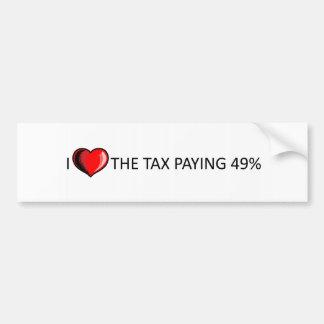 Tax paying 49% bumper sticker