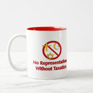 Tax The Churches Two-Tone Mug