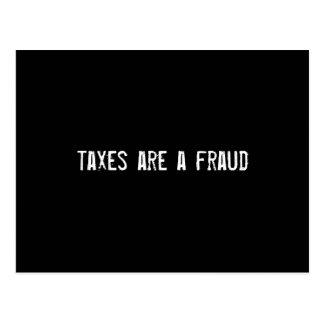taxes are a fraud postcard