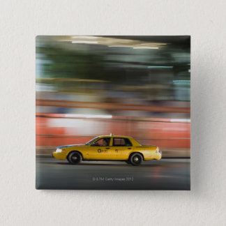 Taxi Cab 15 Cm Square Badge