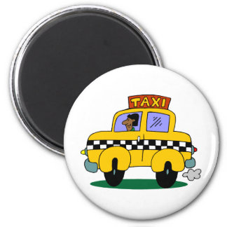 Taxi Driver 6 Cm Round Magnet