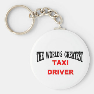 taxi driver basic round button key ring