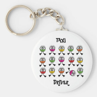 Taxi Driver - Swimming Parent Basic Round Button Key Ring