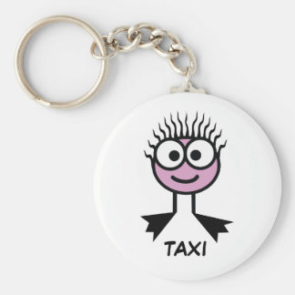 TAXI - Keyring Basic Round Button Key Ring