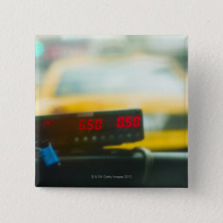 Taxi Meter 15 Cm Square Badge