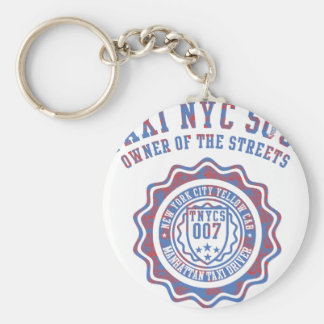 taxi nyc soul basic round button key ring