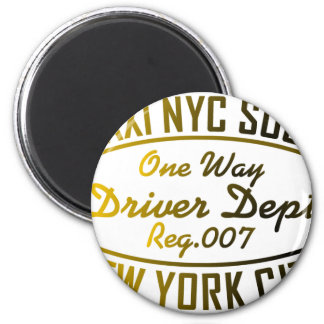 taxi nyc soul urban graphic 6 cm round magnet