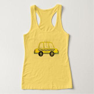 Taxi NYC Yellow New York City Checkered Cab Print Singlet